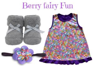 Berry Fairy Fun Baby Girl Dress Set 0-6 Months