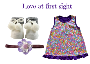 Love at First Sight Baby Girl Dress Set 0-6 Months