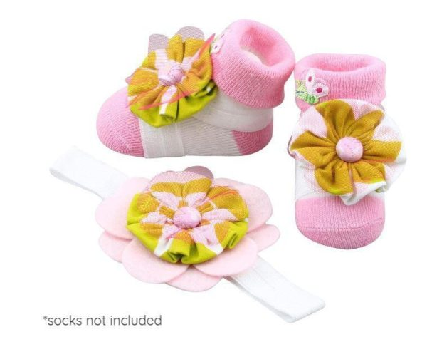 Baby Girl Barefoot Sandals and Headband for Newborn, Infant & Toddlers