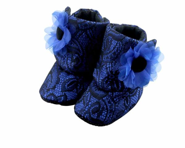 Zuri Baby Couture Booties Angle 1-Zuri Baby Couture
