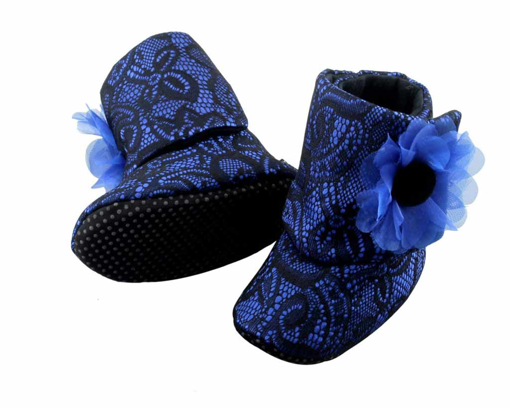 WESTERN BLUE BABY GIRL BOOTIES 3-18 MONTHS