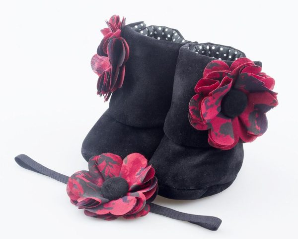 Black Forest Booties And Headband Set