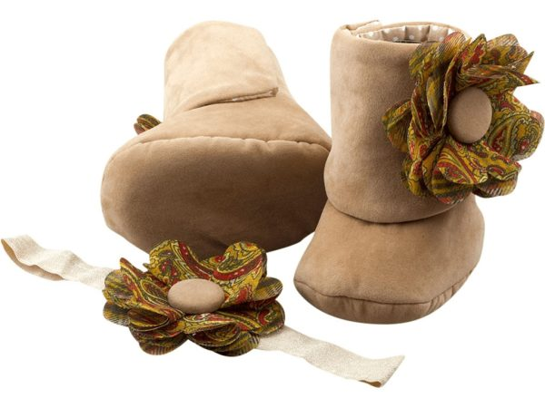 Neutral or Not? Baby Girl Booties and Headband Set