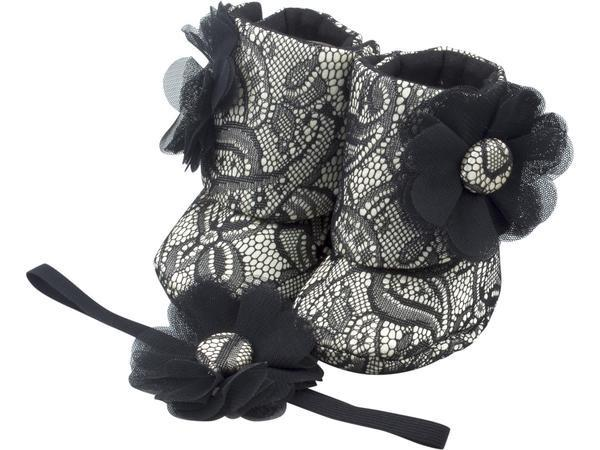 Old Hollywood Glam Baby Girl Booties 9-18 Months