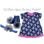 Royal Blue Floral: Is that the spear in your pocket?