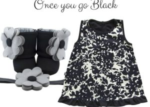 Once You go Black Baby Girl Dress Set 3-9 Months