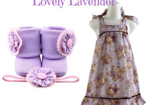 Lovely Lavender Baby Girl Dress Set 9-18 Months