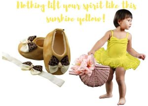 Nothing Lift Your Spirit Like This Sunshine Yellow Baby Girl Dress Set 3-9 Months