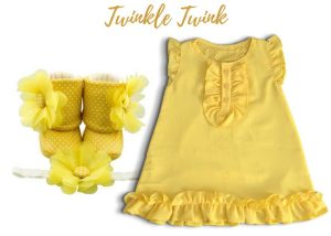 Twinkle twink Baby Girl Dress Set 9-18 Months