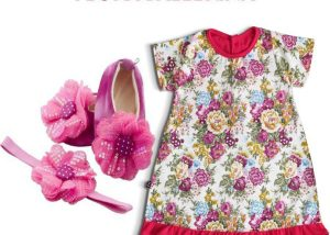 Flora Ballerina Baby Girl Dress Set 3-9 Months