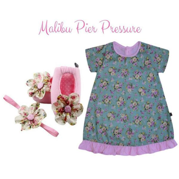 Malibu Pier Pressure Baby Girl Dress Set 3-9 Months