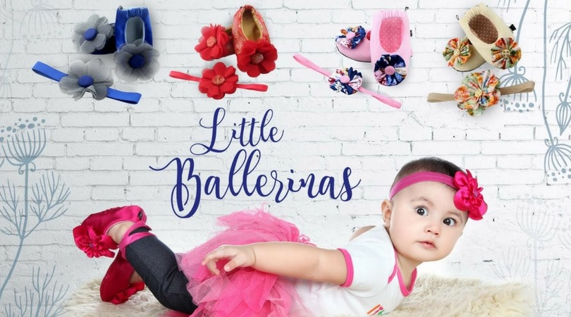 Baby wearing Ballerina Outfit in a Little Ballerinas Banner - Zuri Baby Couture PH