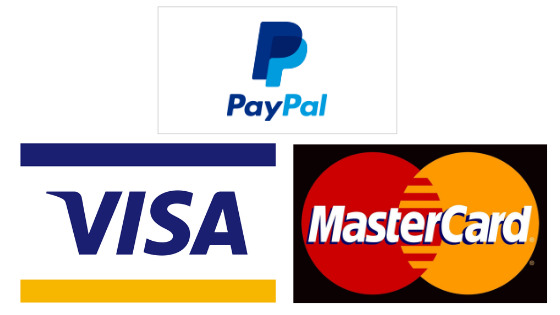 Easy Order Process Using Your Paypal, Credit and Debit Card