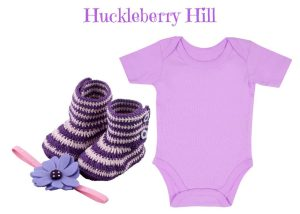 Newborn Baby Onesie with Booties and Headband Set