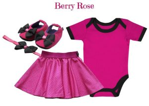 Baby Onesie With Skirt, Shoes & Headband