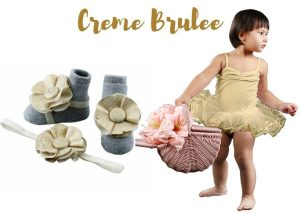 Creme Brulee Baby Girl Dress Set 3-18 Months