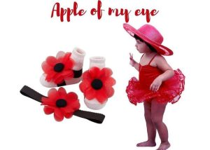 Apple of My Eye Baby Girl Dress Set 3-18 Months