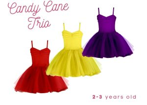 Candy Cane Trio Set-Zuri Baby Couture