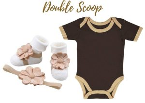 Double Scoop Onesie - Zuri Baby Couture