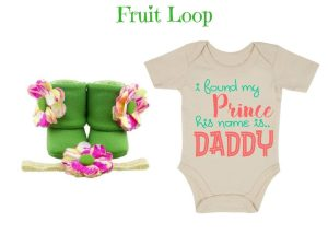 Fruit Loop Onesie - Zuri Baby Couture
